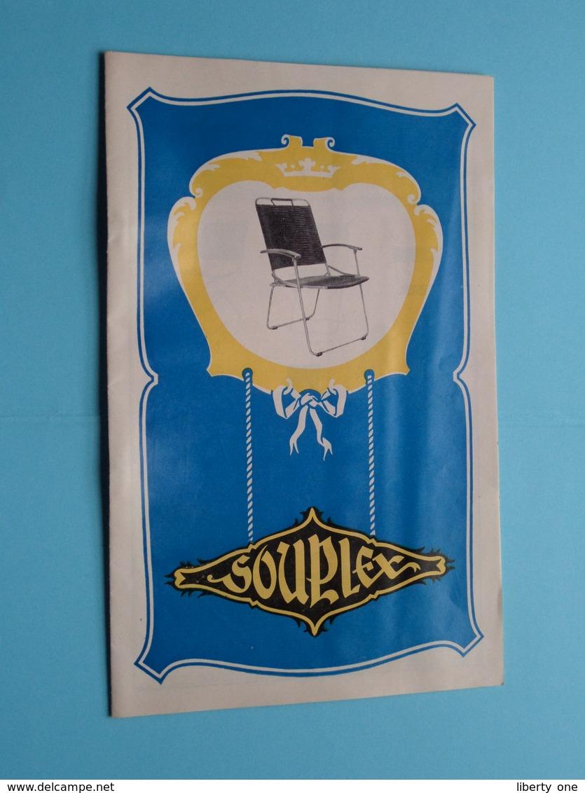 SOUPLEX Stalen Buis Meubelen / Meubles En Tubes Acier ( Zie / Voir Photo ) Folder / Depliant ! - Publicités