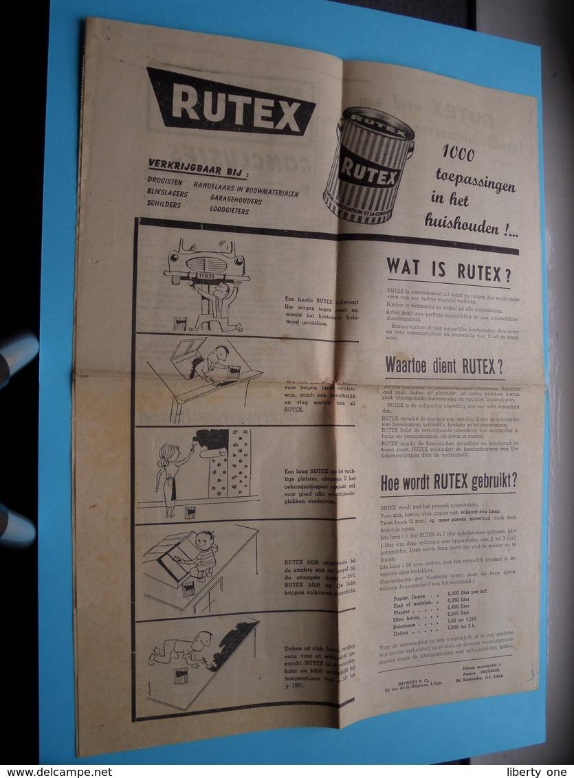 RUTEX October 1954 - Maandblad ( Zie / Voir Photo - Edit. : Impredi Liège ) Folder / Depliant ! - Publicités