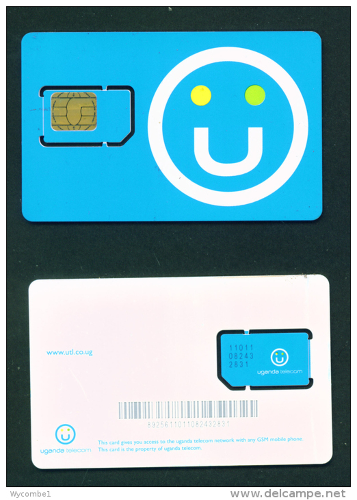 UGANDA - Mint/Unused SIM Chip Phonecard - Ouganda
