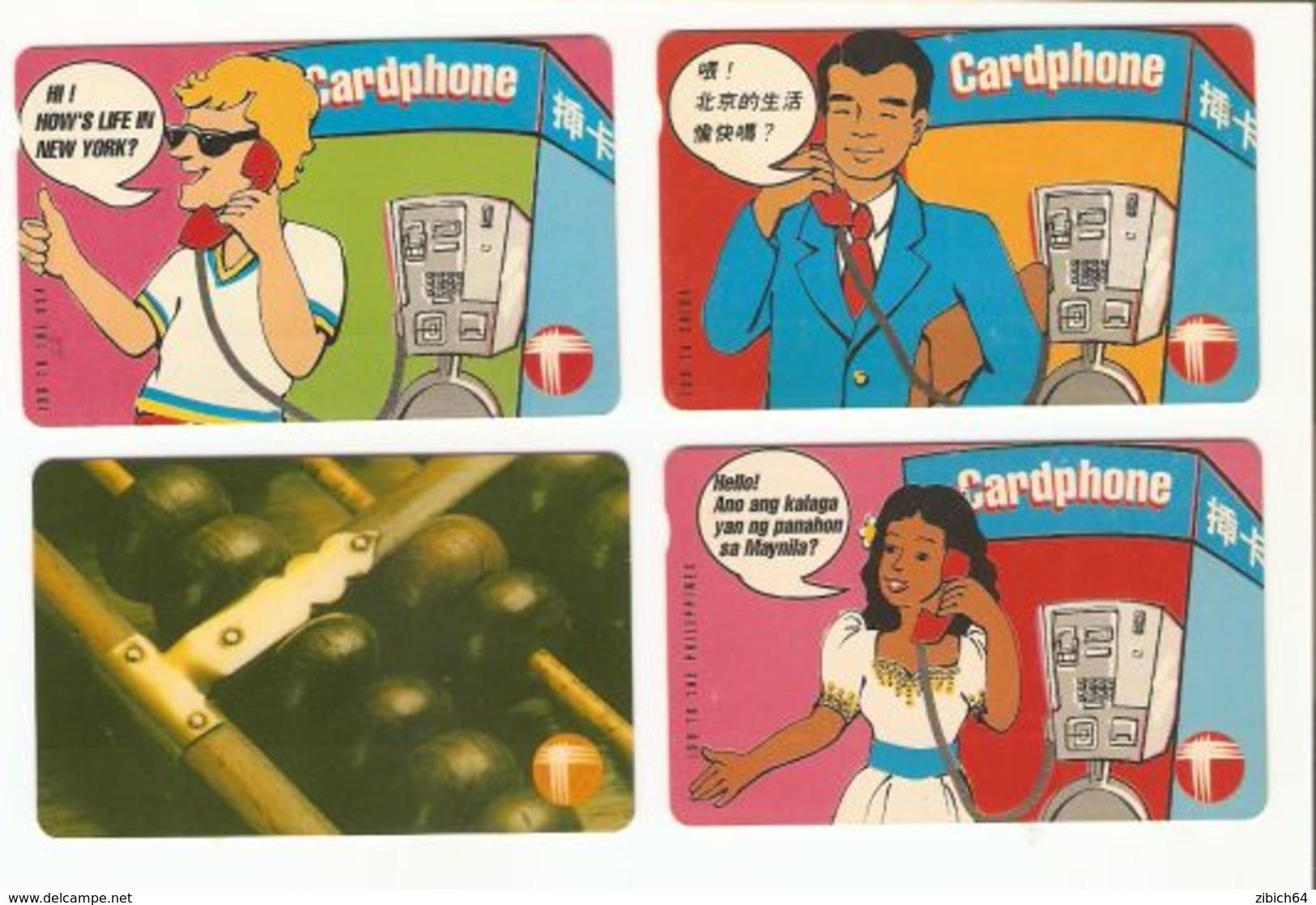 HONG KONG  - 4 Magnetic Phonecards - Hong Kong