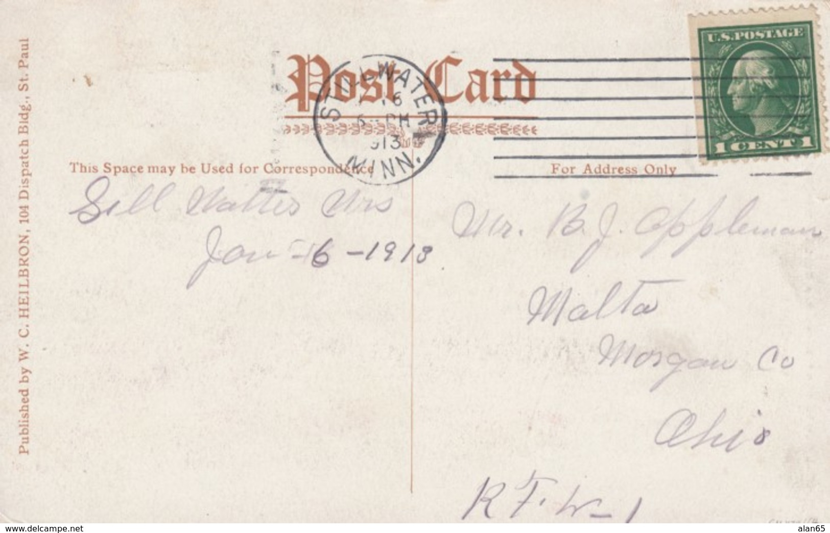 Minnesota State Prison Cell House Row, Jail C1910s Vintage Postcard - Prison