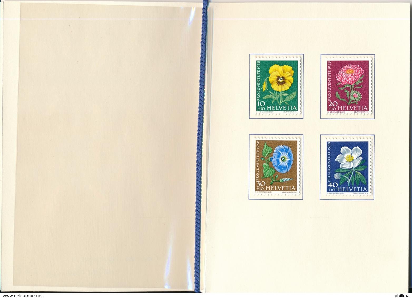 1958 Pro Juventute Vorlage Geschenkheft Von Courvoisier S.A. La Chaux De Fonds - Lettres & Documents