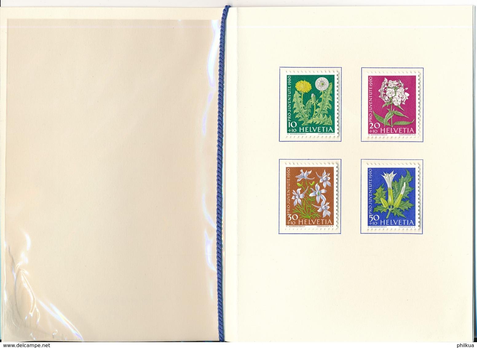 1961 Pro Juventute Vorlage Geschenkheft Von Courvoisier S.A. La Chaux De Fonds - Lettres & Documents