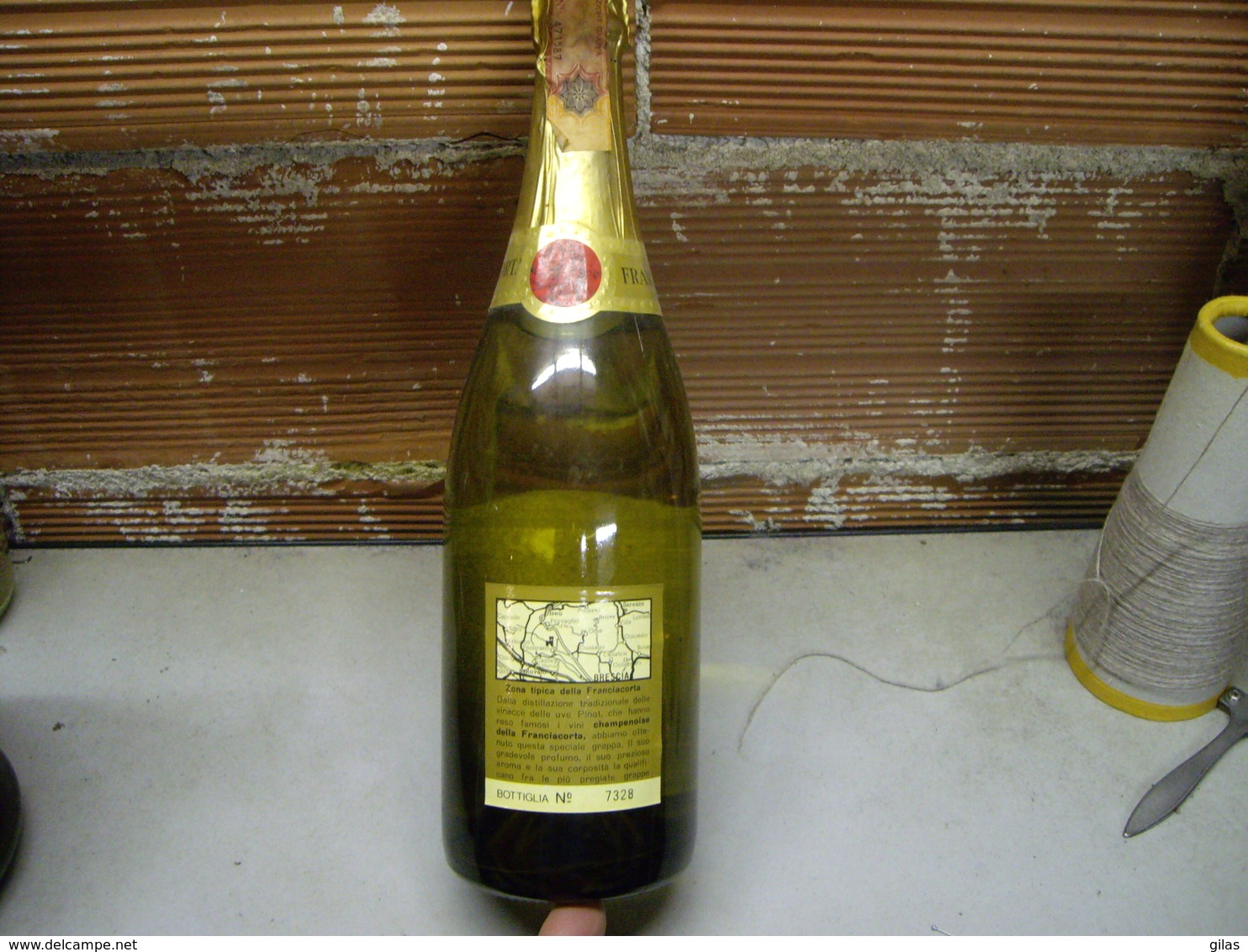 Grappa Di Pinot Franciacorta, Vintage 1980's Da Collezione, Bottiglia Numerata - Licor Espirituoso