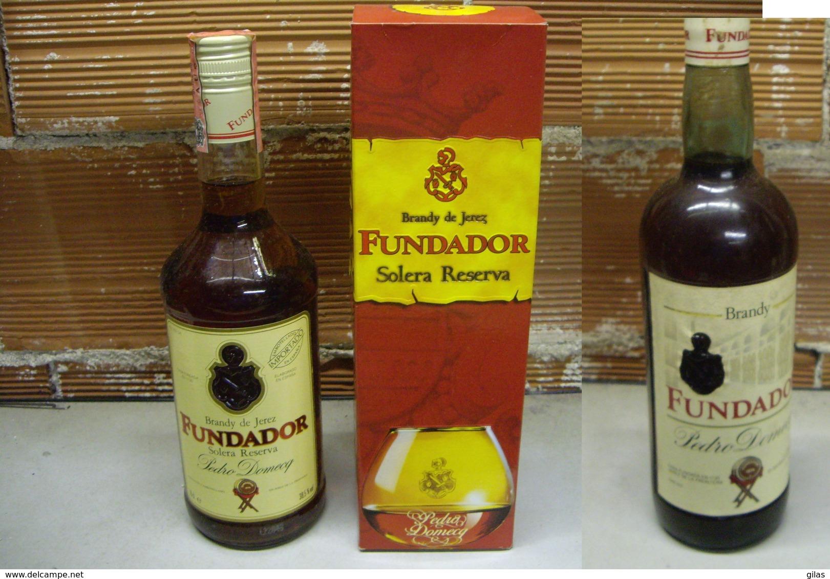 Due Bottiglie Brandy Fundador Vintage, 750 Ml E 1000 Ml - Andere Verzamelingen