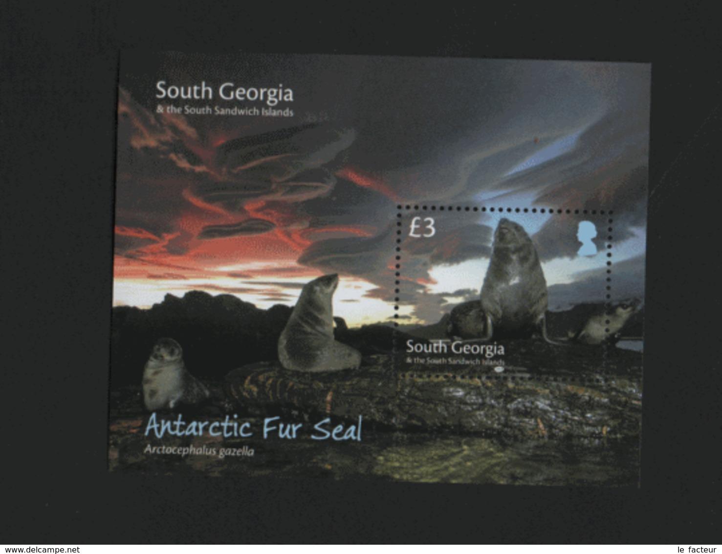 BD2 South Georgia 2018 Sheet Antarctic Fur Seal / Géorgie Du Sud Bloc Otarie Antarctique Faune / Mnh **  (refWP2L6) - Géorgie Du Sud