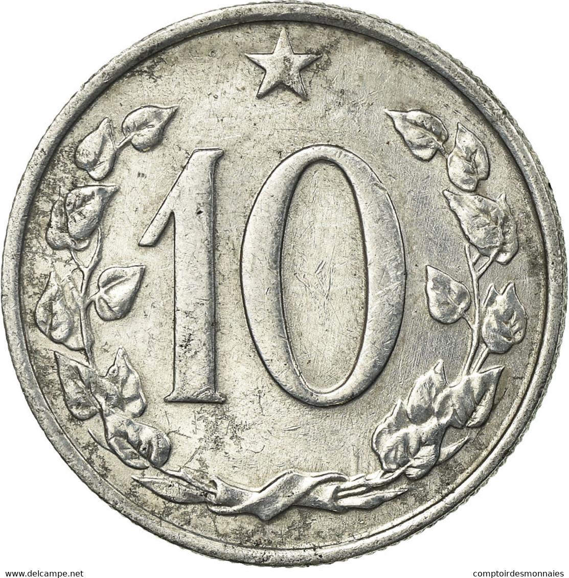 Monnaie, Tchécoslovaquie, 10 Haleru, 1963, TTB, Aluminium, KM:49.1 - Tchéquie