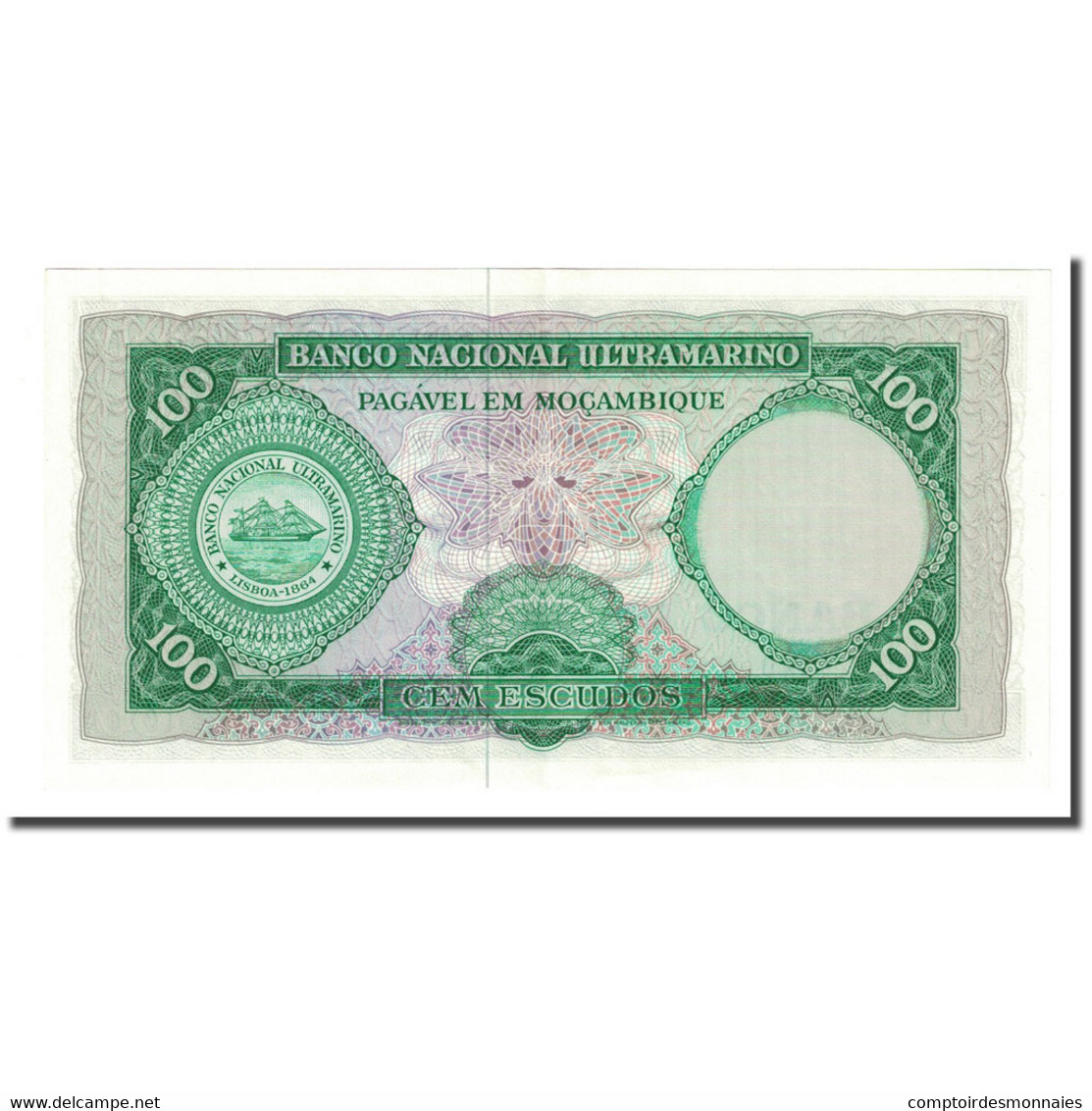 Billet, Mozambique, 100 Escudos, 1961-03-27, KM:117a, SUP - Mozambique