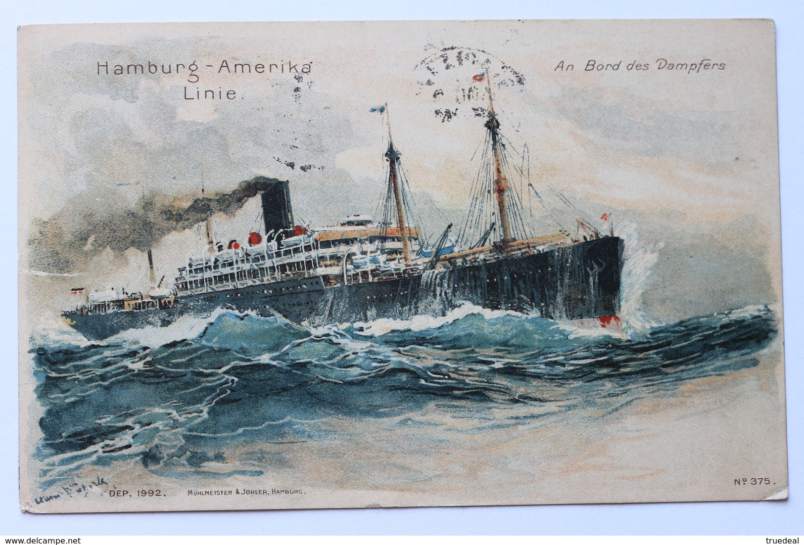 An Bord Des Dampfers Hamburg-Amerika Linie, Early 1900-10s, Steamer (damaged) - Steamers