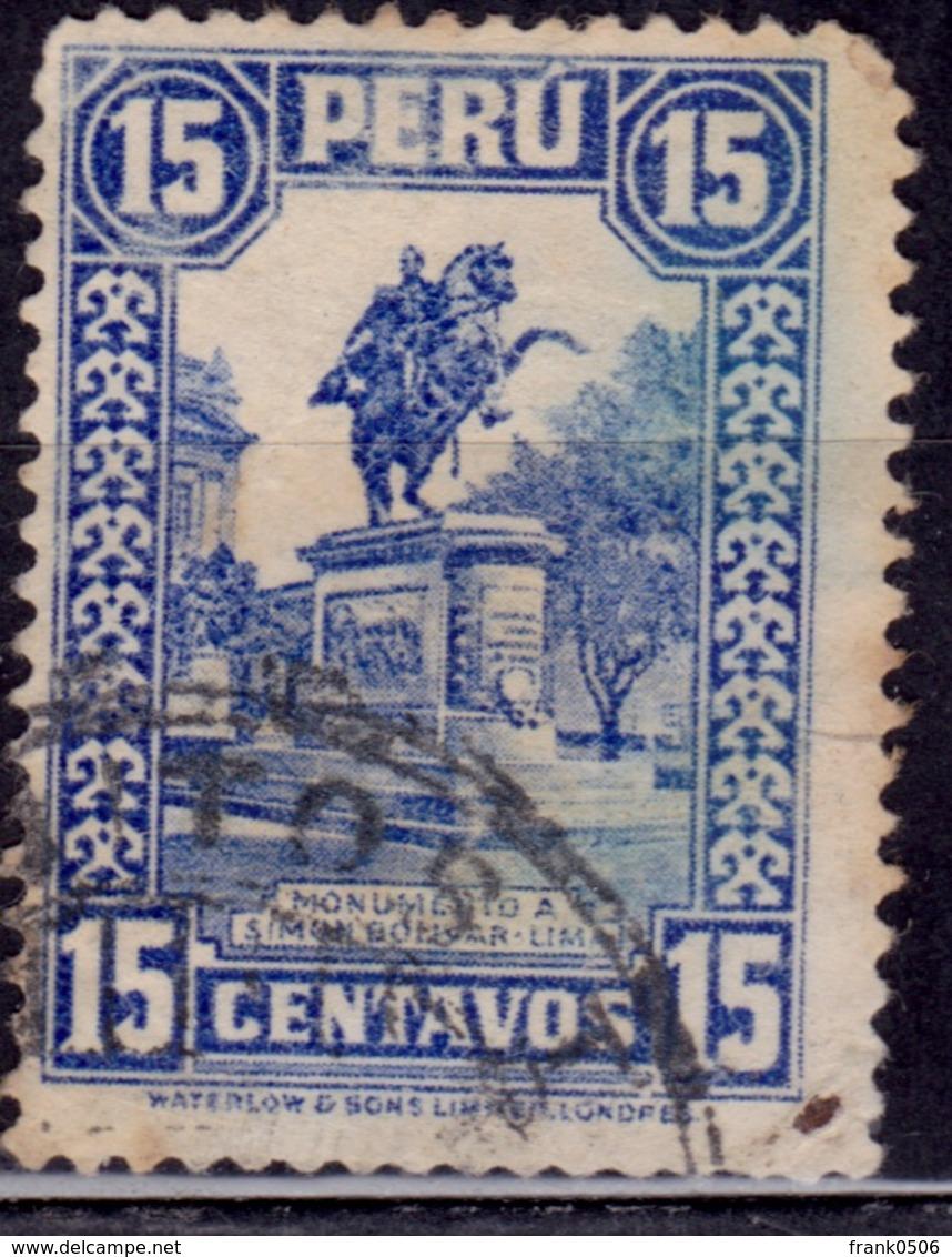 Peru, 1932, Bolivar Monument, 15c, Sc#311, Used - Peru