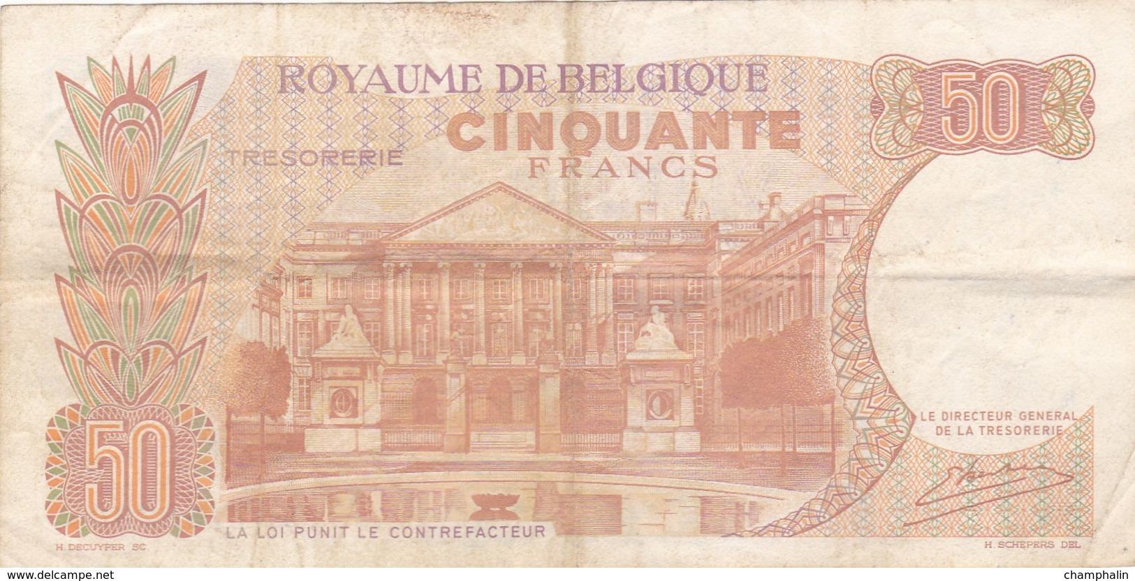 Belgique - Billet De 50 Francs - Baudoin Ier & Fabiola - 16 Mai 1966 - [ 2] 1831-... : Belgian Kingdom