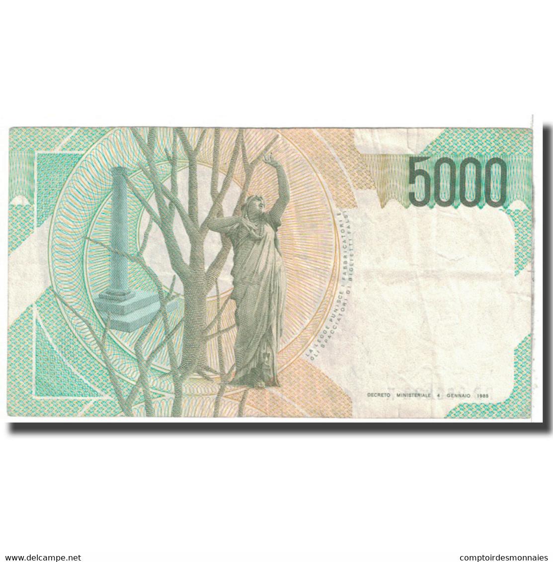 Billet, Italie, 5000 Lire, 1985, 1985-01-04, KM:111b, TB - 5000 Lire