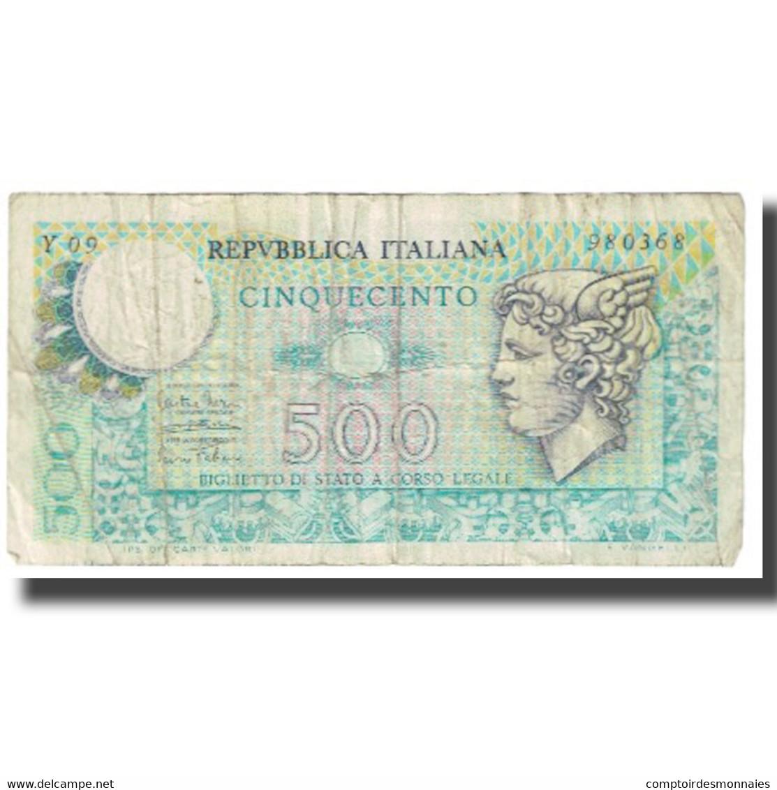 Billet, Italie, 500 Lire, KM:94, TB - 500 Lire