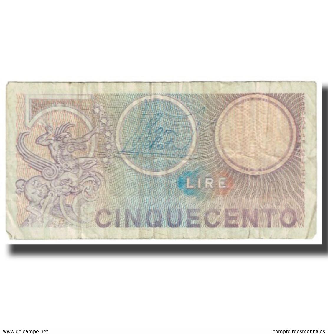 Billet, Italie, 500 Lire, KM:94, TB - [ 2] 1946-… : République
