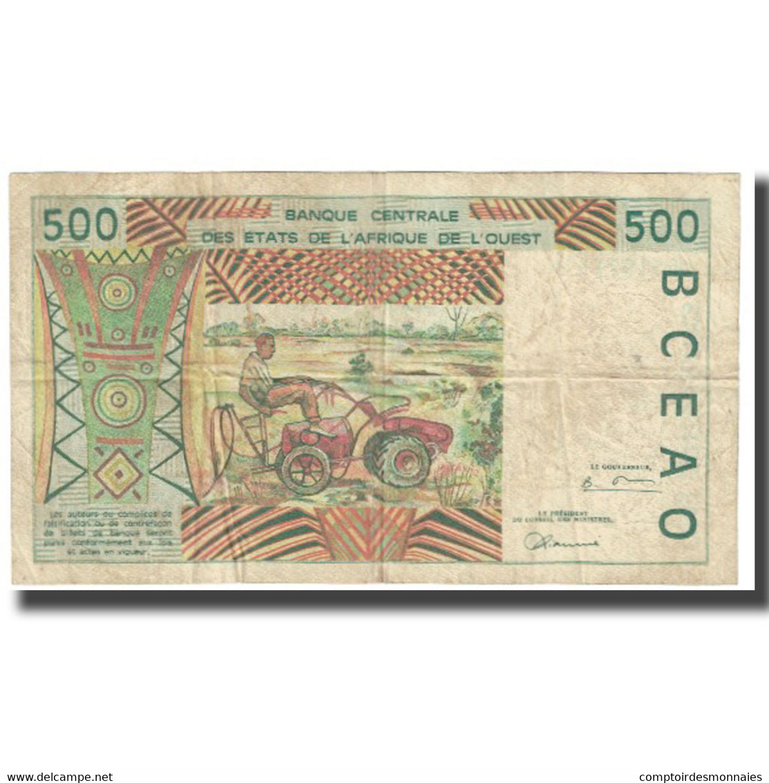 Billet, West African States, 500 Francs, KM:710Kc, TB - West African States