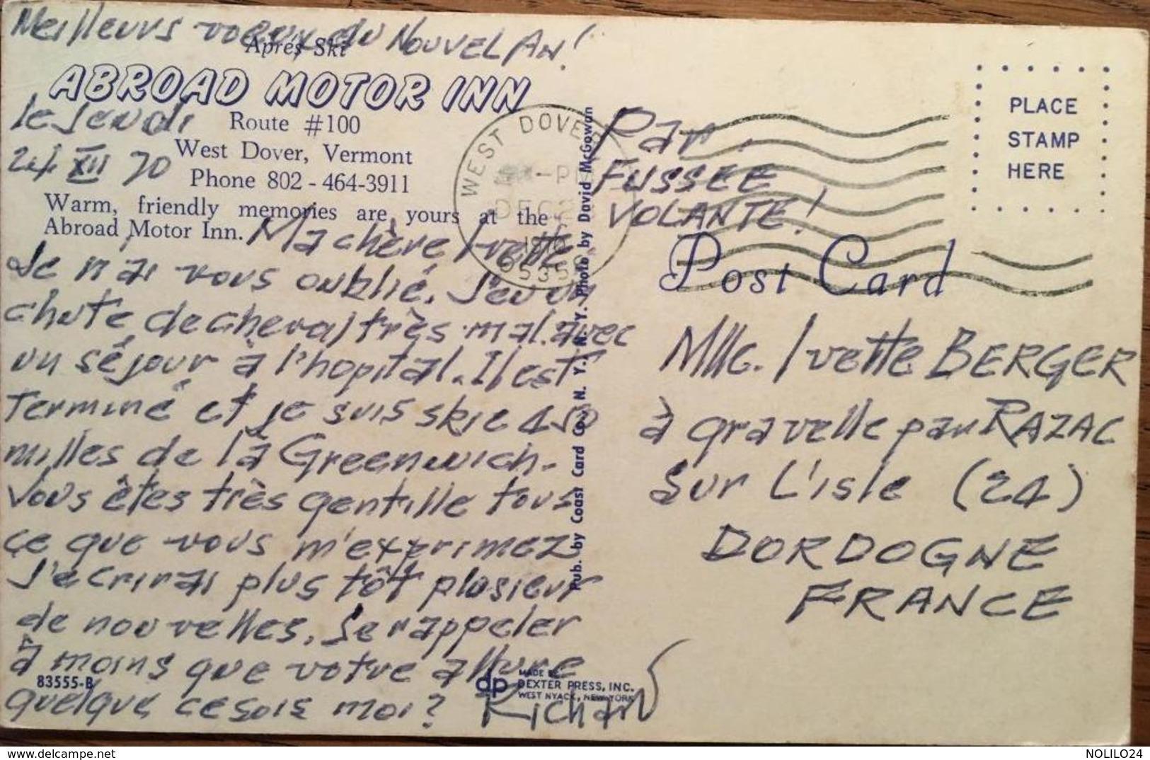 Cpsm, Abroad Motor Inn, Route 100, West Dover, Vermont, Carte Publicitaire, écrite En 1970 - United States