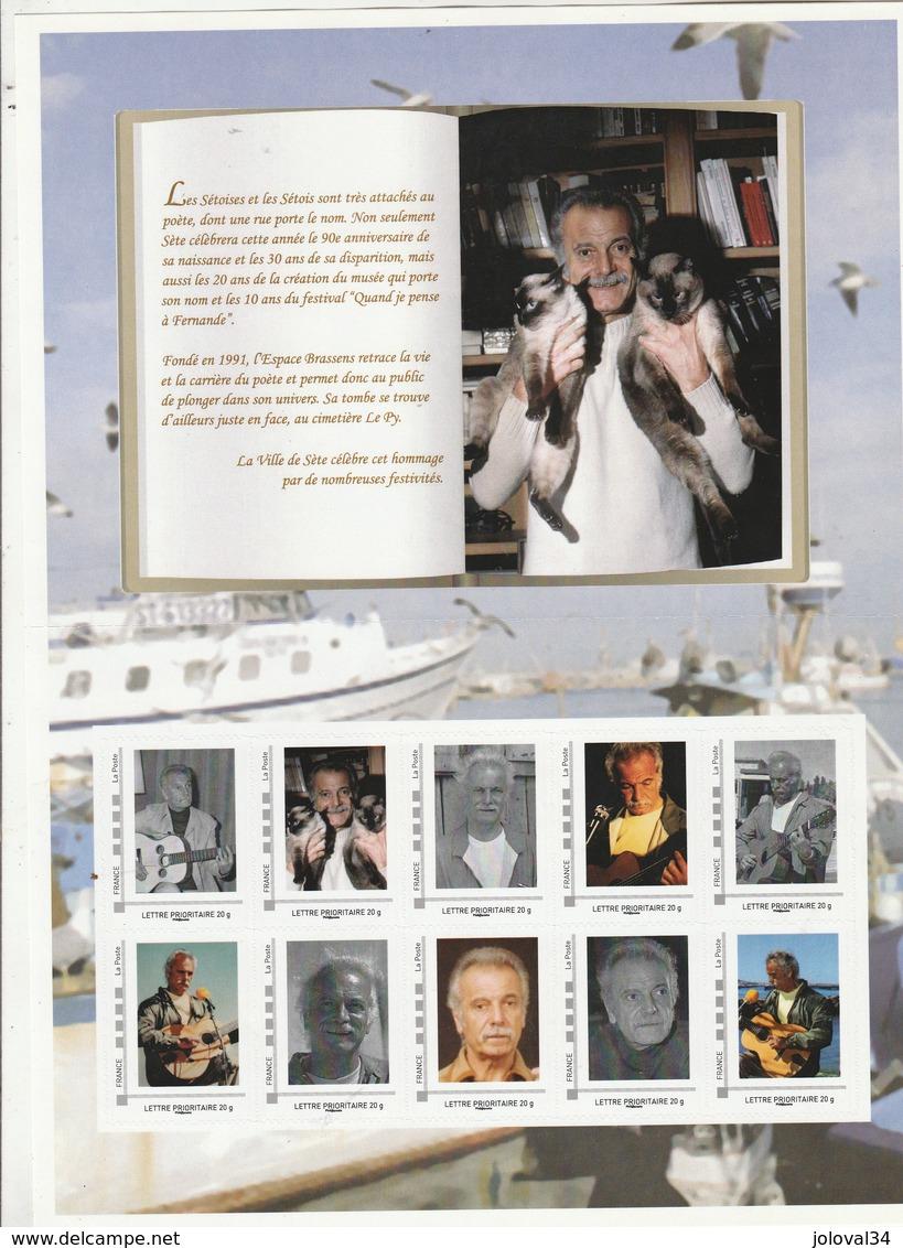 Collector Feuillet Georges Brassens - France