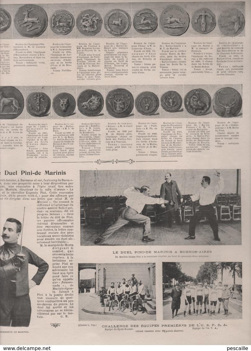 LA VIE AU GRAND AIR 11 06 1899 - FETE SPORTIVE ECHO DE PARIS - GYMNASTIQUE DIJON - BOUTONS D'EQUIPAGES - DERBY EPSOM - Magazines - Before 1900