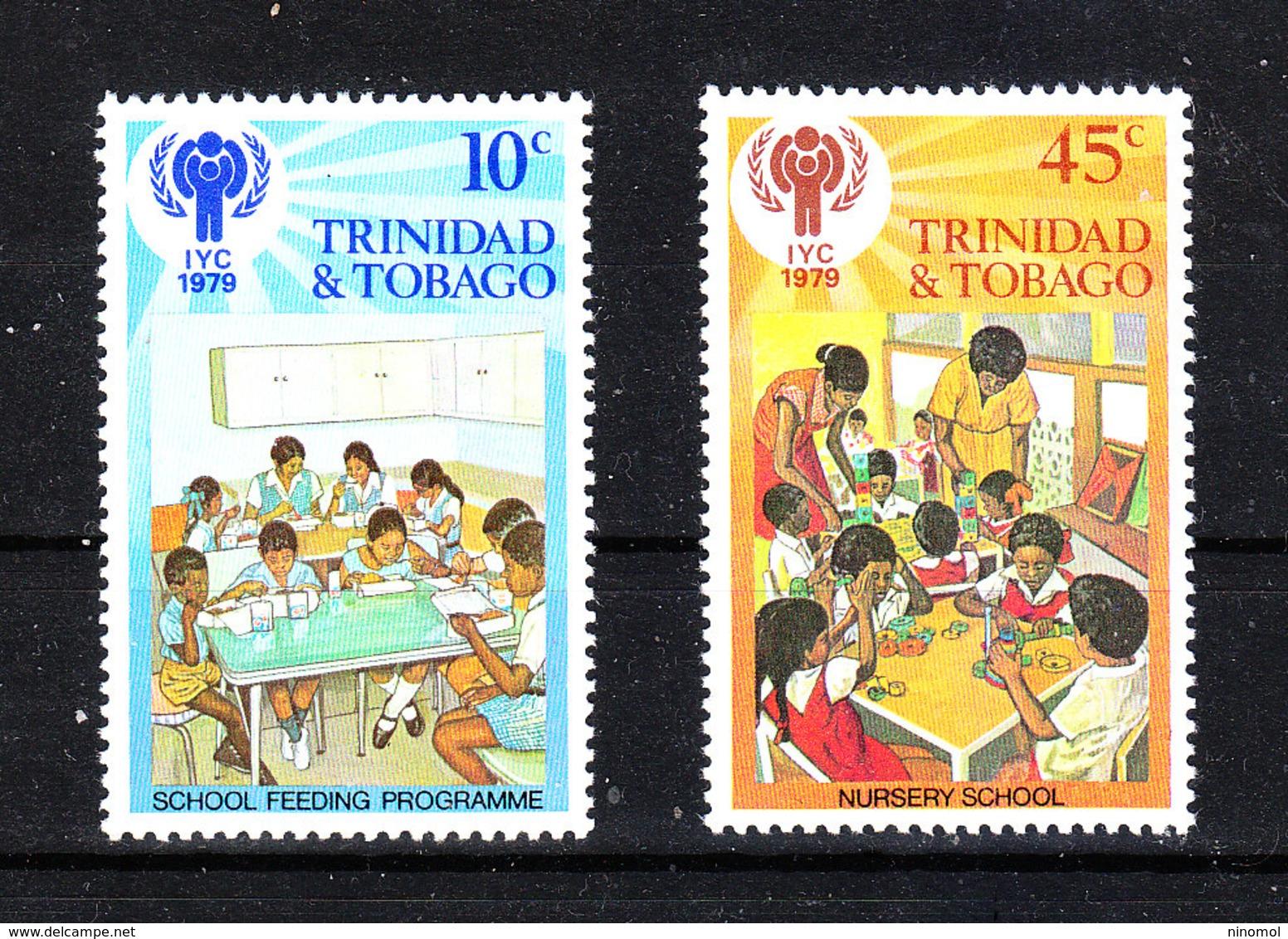 """Trinidad &Tobago -1979. I Due Francobolli  Su """"Insegnamento Scolastico"""". """"School Teaching"""". MNH - Infanzia & Giovinezza"""