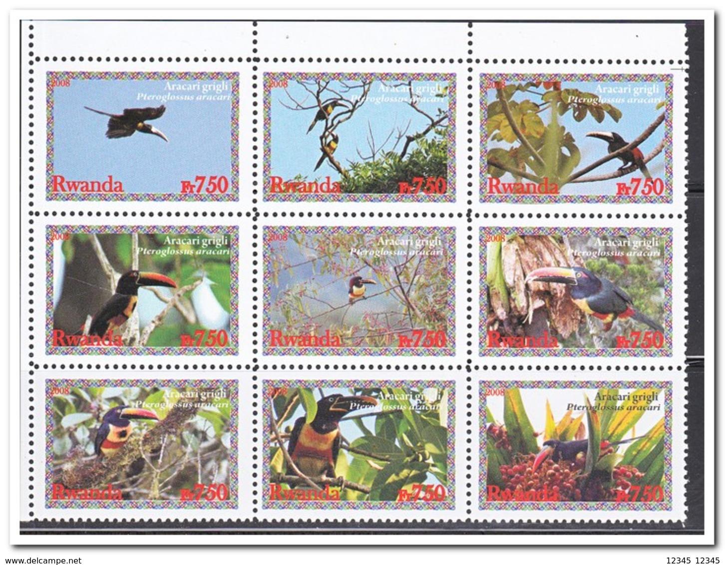 Rwanda 2008, Postfris MNH, Birds - Rwanda