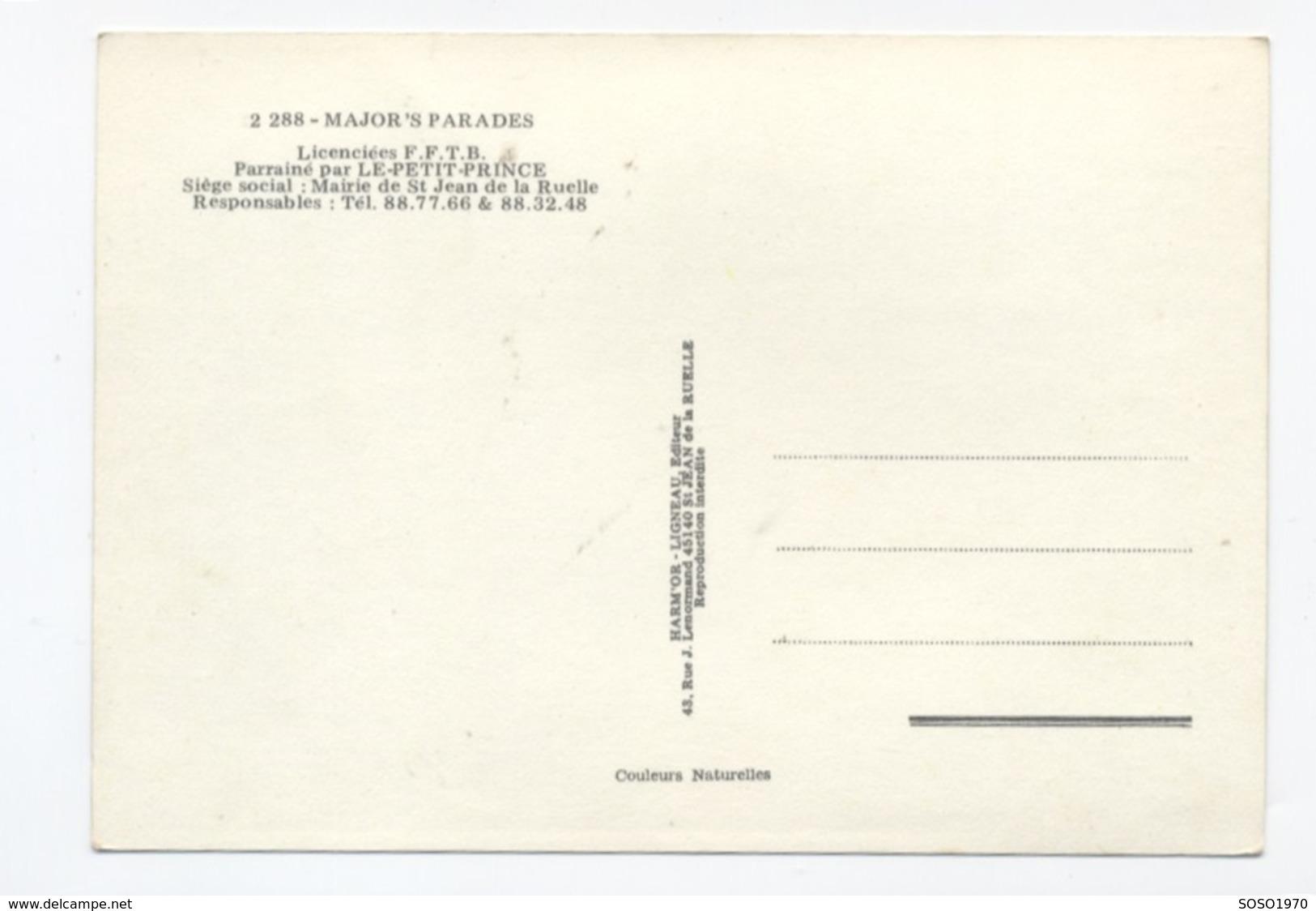 45 SAINT JEAN DE LA RUELLE GROUPE DE MAJORETTES   RECTO / VERSO-- B57 - France