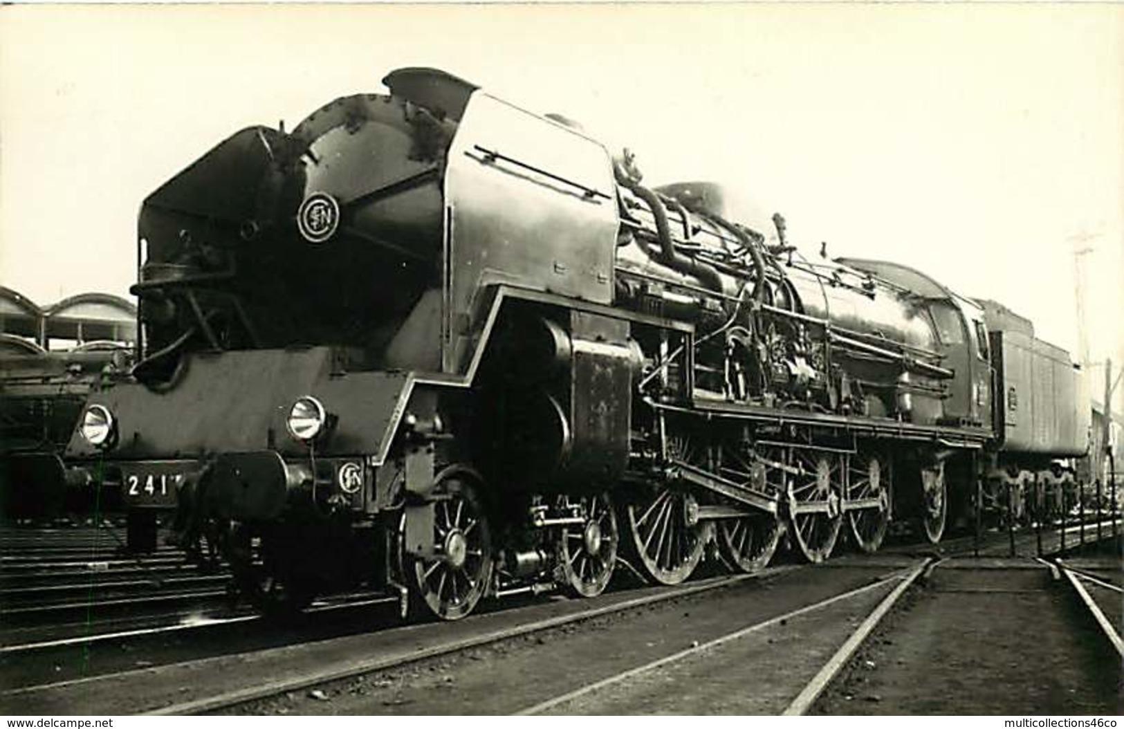 100519B TRANSPORT TRAIN CHEMIN DE FER - PHOTO VILAIN - Locomotive SNCF 241P4 BERCY PARIS - Estaciones Con Trenes