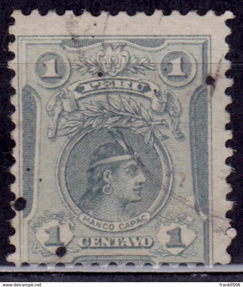Peru 1909, Manco Capac, 1c, Sc#177, Used - Peru