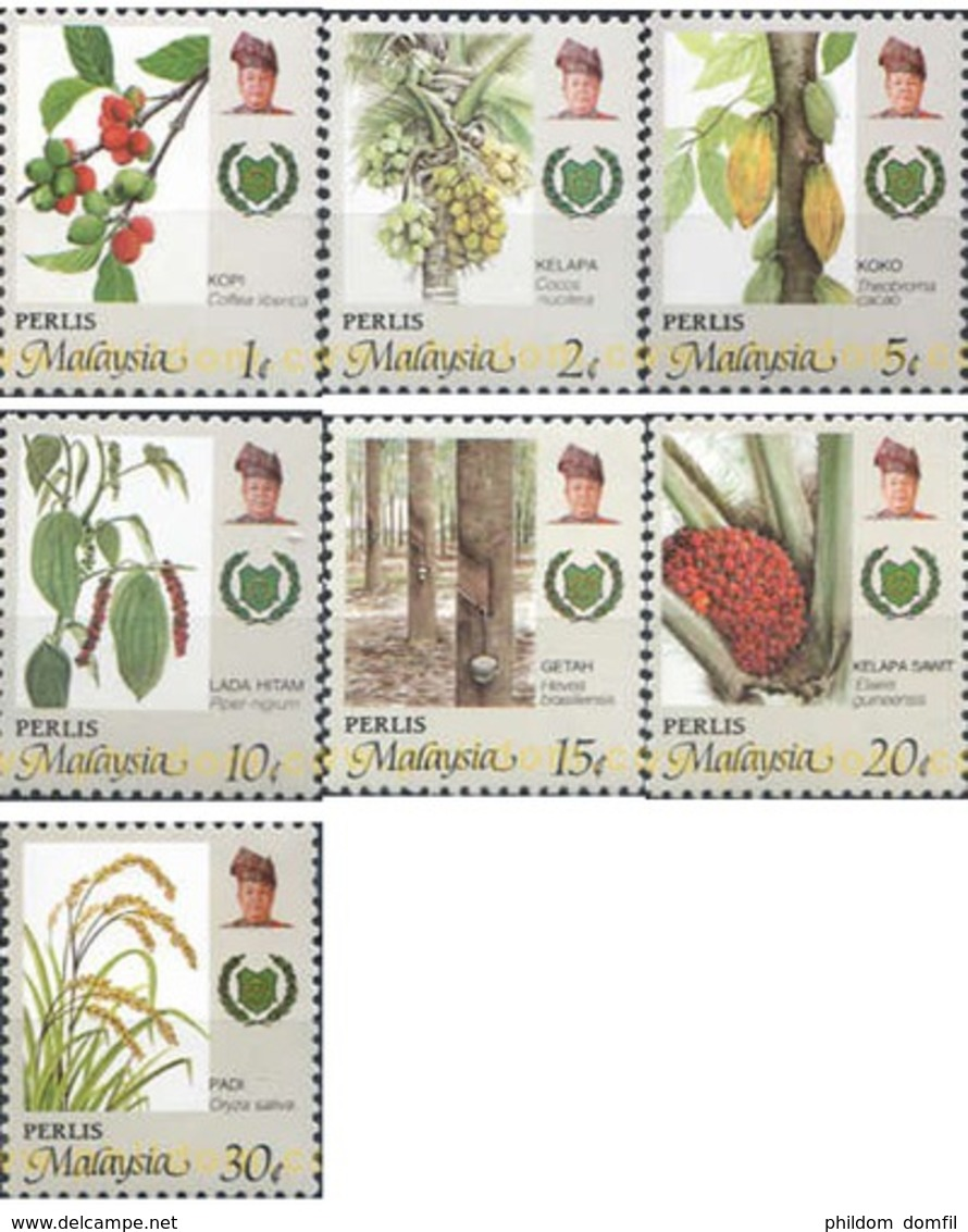 Ref. 340233 * MNH * - MALAYSIA. PERLIS. 1986. AGRICULTURAL PRODUCTS . PRODUCTOS AGRICOLAS - Perlis