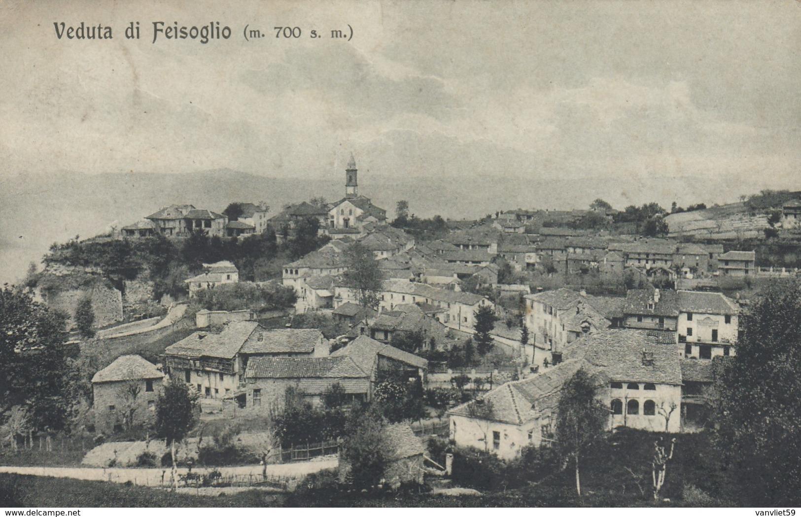 FEISOGLIO-CUNEO-VEDUTA-CARTOLINA VIAGGIATA IL 3-6-1922 - Cuneo