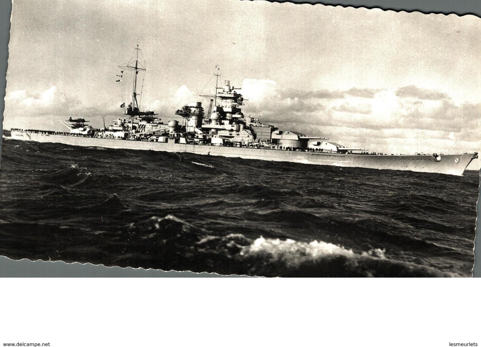 "Cpsm Rare Marine Fotograf Renard Kiel Bateau Guerre ""Scharnhorst"" - Guerra"