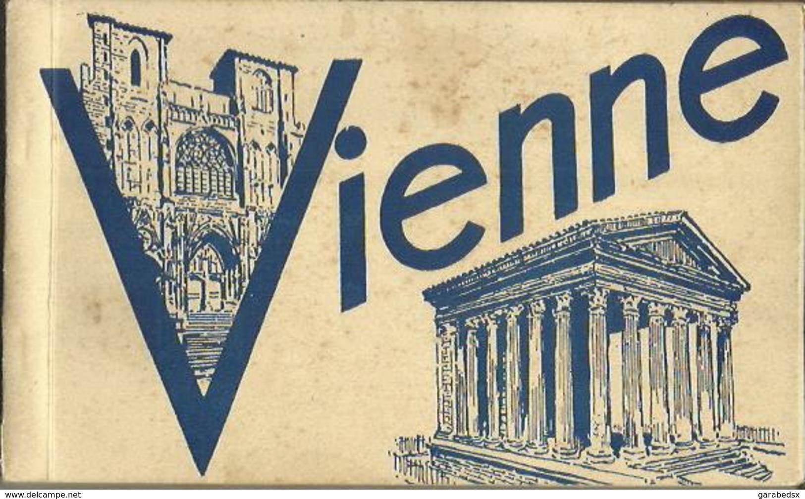 CARNET Complet De 12 Cartes Postales Anciennes De VIENNE. - Vienne