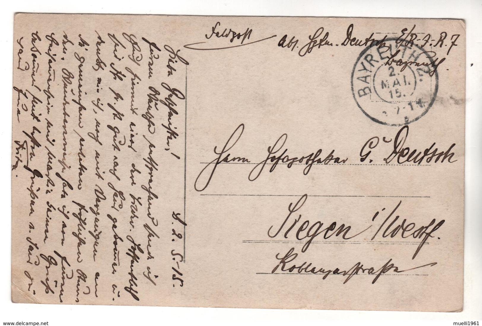 7385,  FOTO-AK, WK I, Bayreuth, Feldpost - Guerre 1914-18