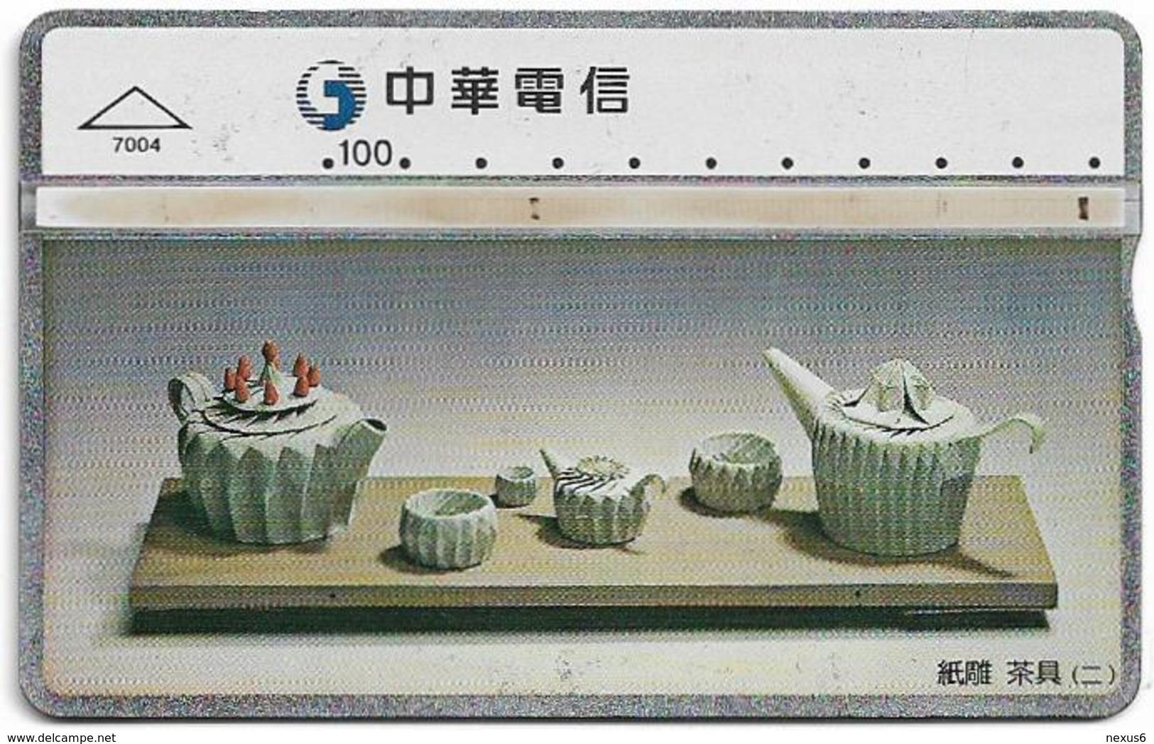 Taiwan - Chunghwa Telecom - L&G - Tea Set 2 - 694M - 1997, 100U, Used - Taiwán (Formosa)