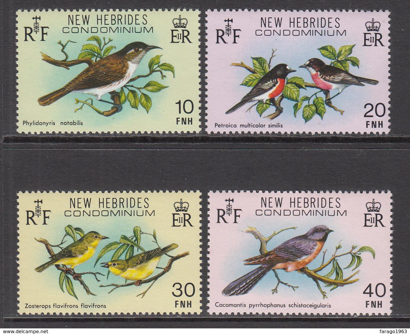 1980 New Hebrides Birds Oiseaux  Complete Set Of 4 MNH - Leyenda Inglesa