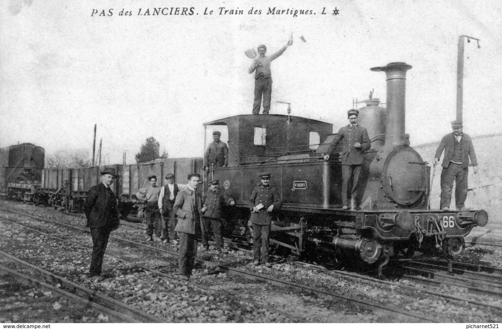 CPA De Pas-des-lanciers (Bouches Du Rhône) - Le Train Des Martigues. Circulée. Bon état. - France