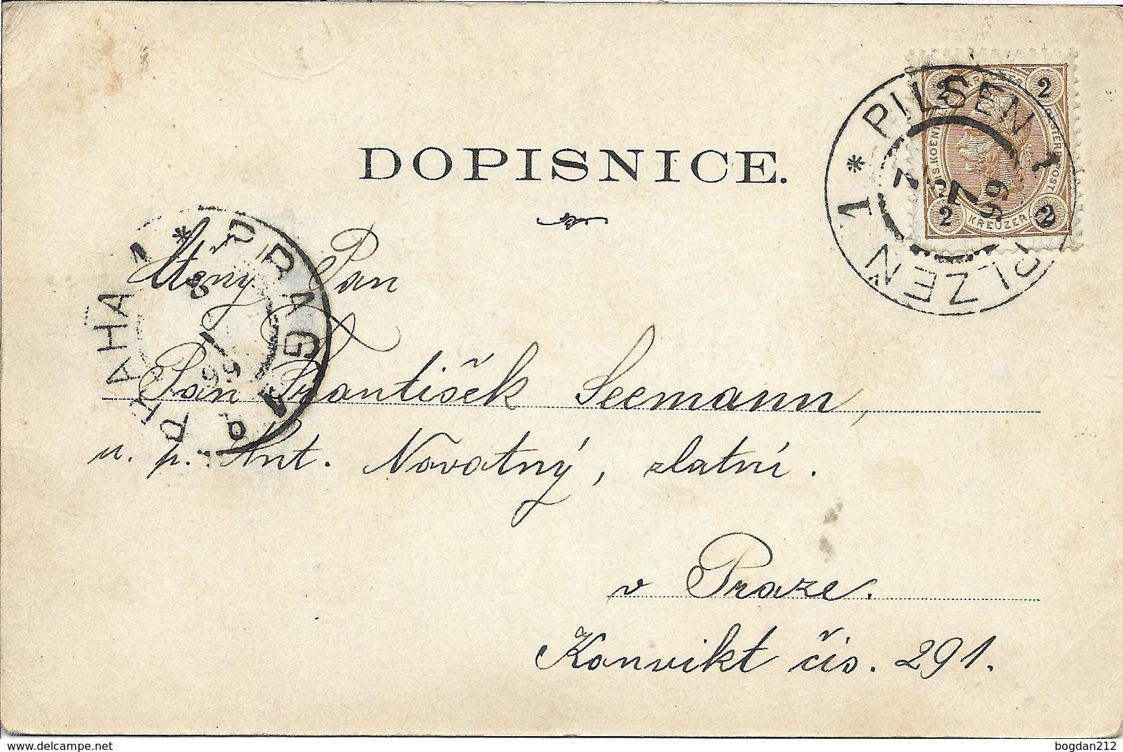 1899 - Plzen , ZUKUNFT , Gute Zustand, 2 Scan - Tschechische Republik