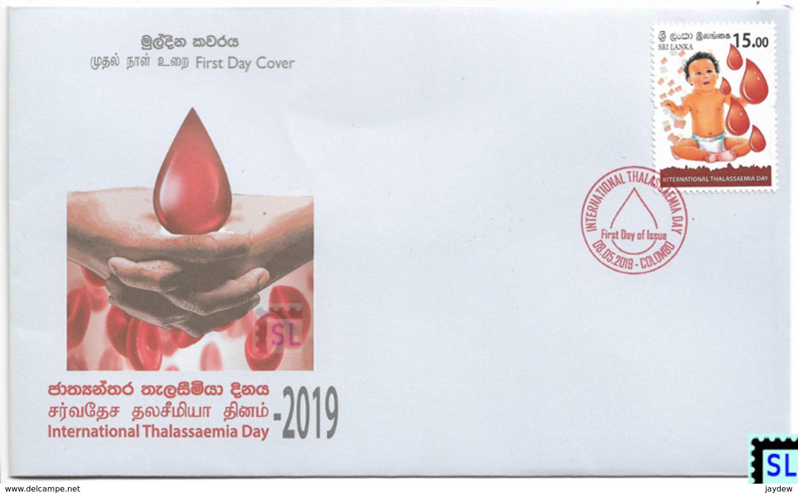 Sri Lanka Stamps 2019, World Thalassaemia Day, FDC - Sri Lanka (Ceylon) (1948-...)