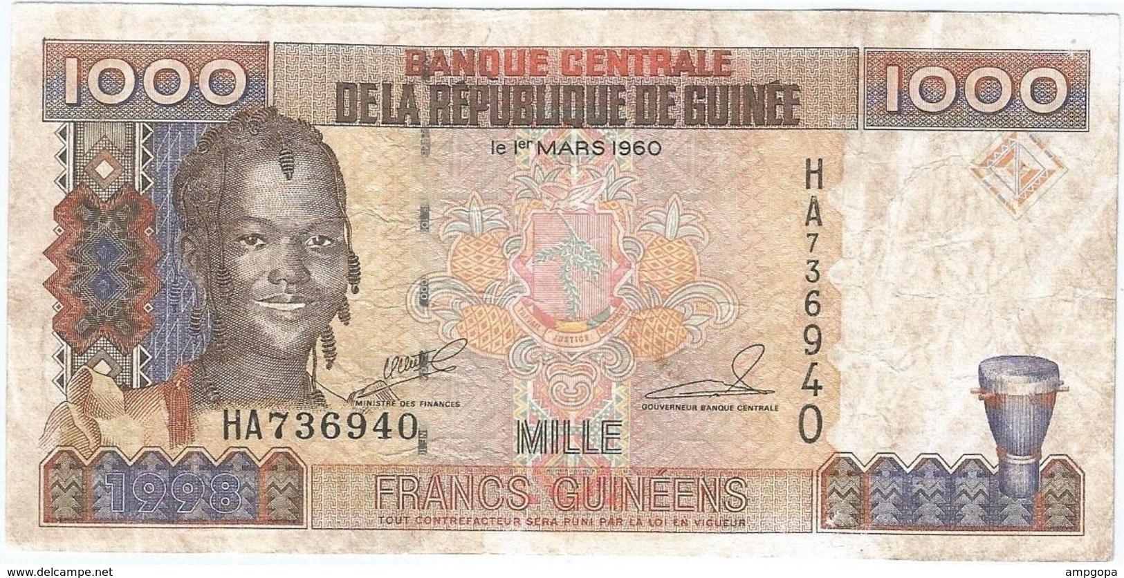 Guinea - Guinee 1000 Francs 1998 Pk 37 Ref 14 - Guinea