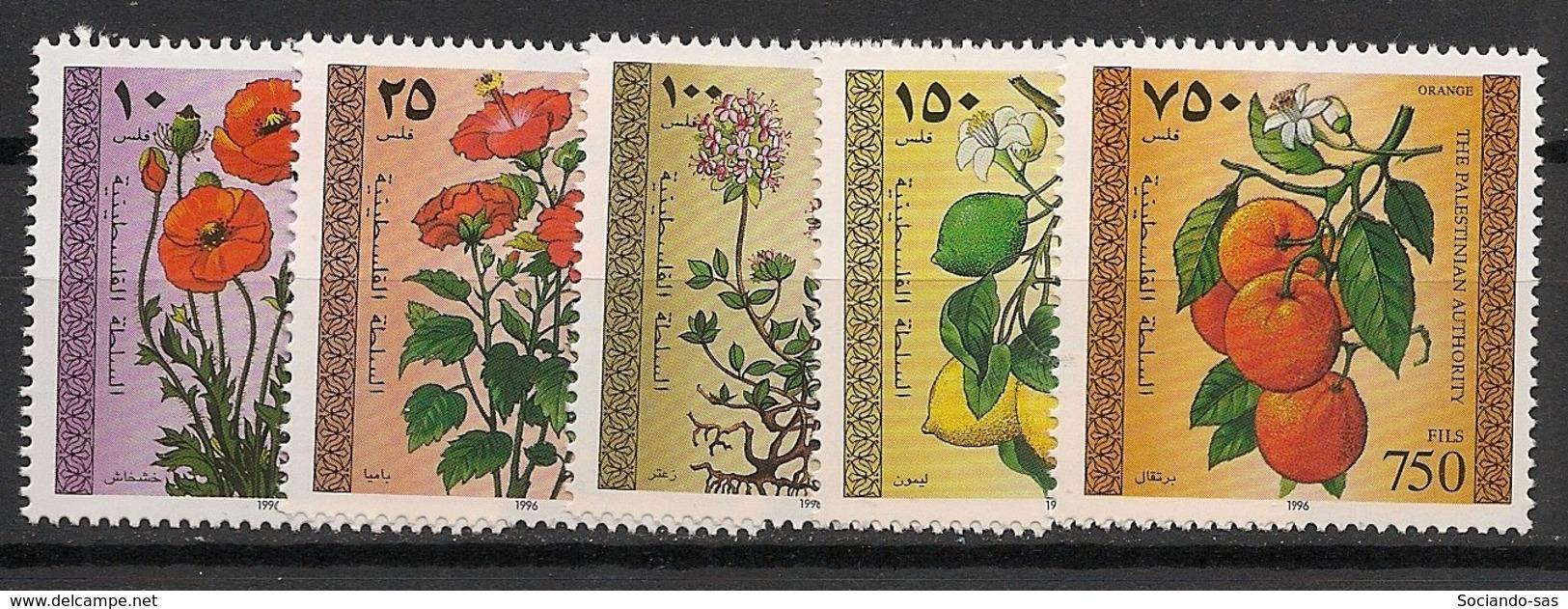 Palestine - 1996 - N°Yv. 53 à 57 - Fleurs - Neuf Luxe ** / MNH / Postfrisch - Palestina