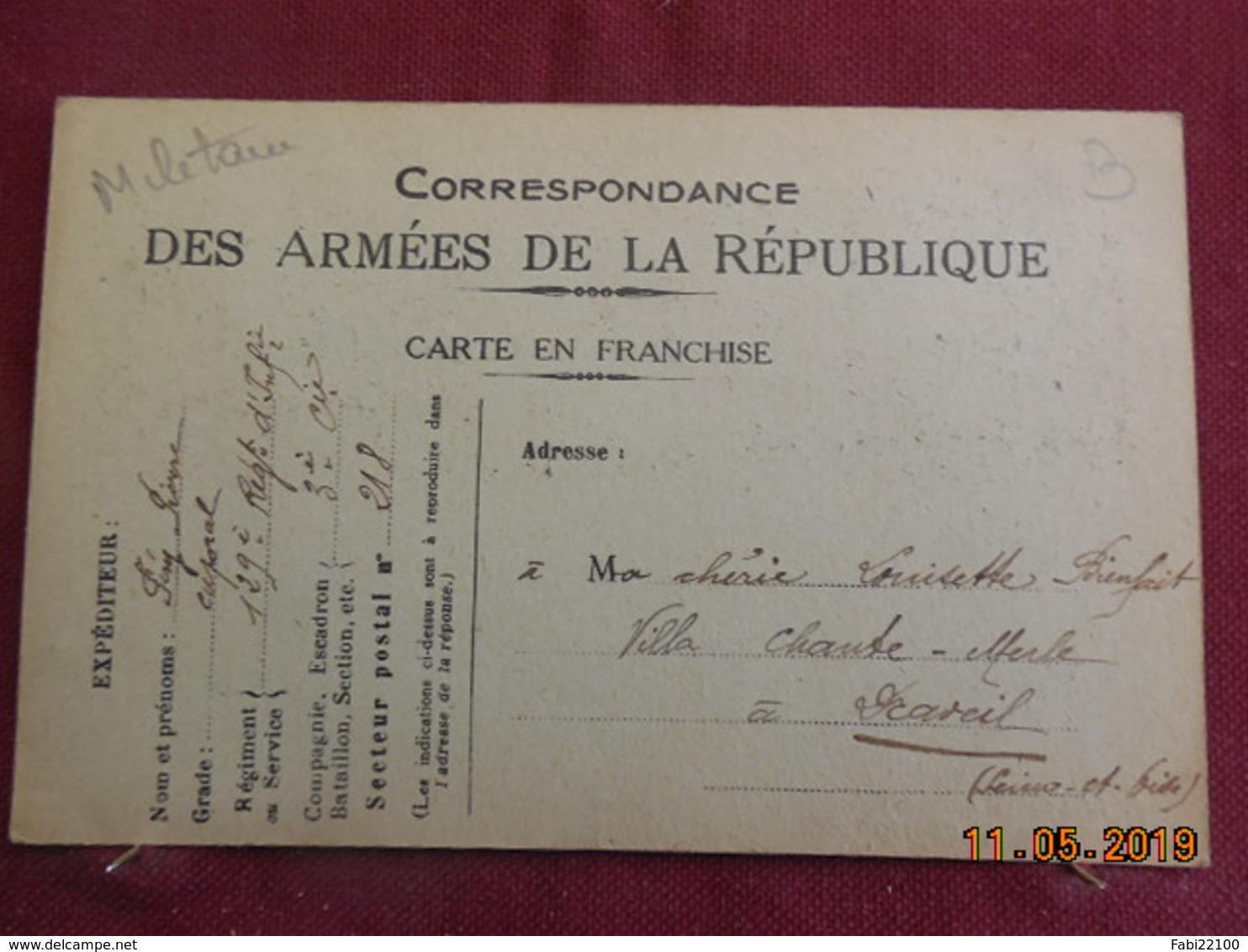 Carte De 1917 à Destination De Draveil - Marcophilie (Lettres)
