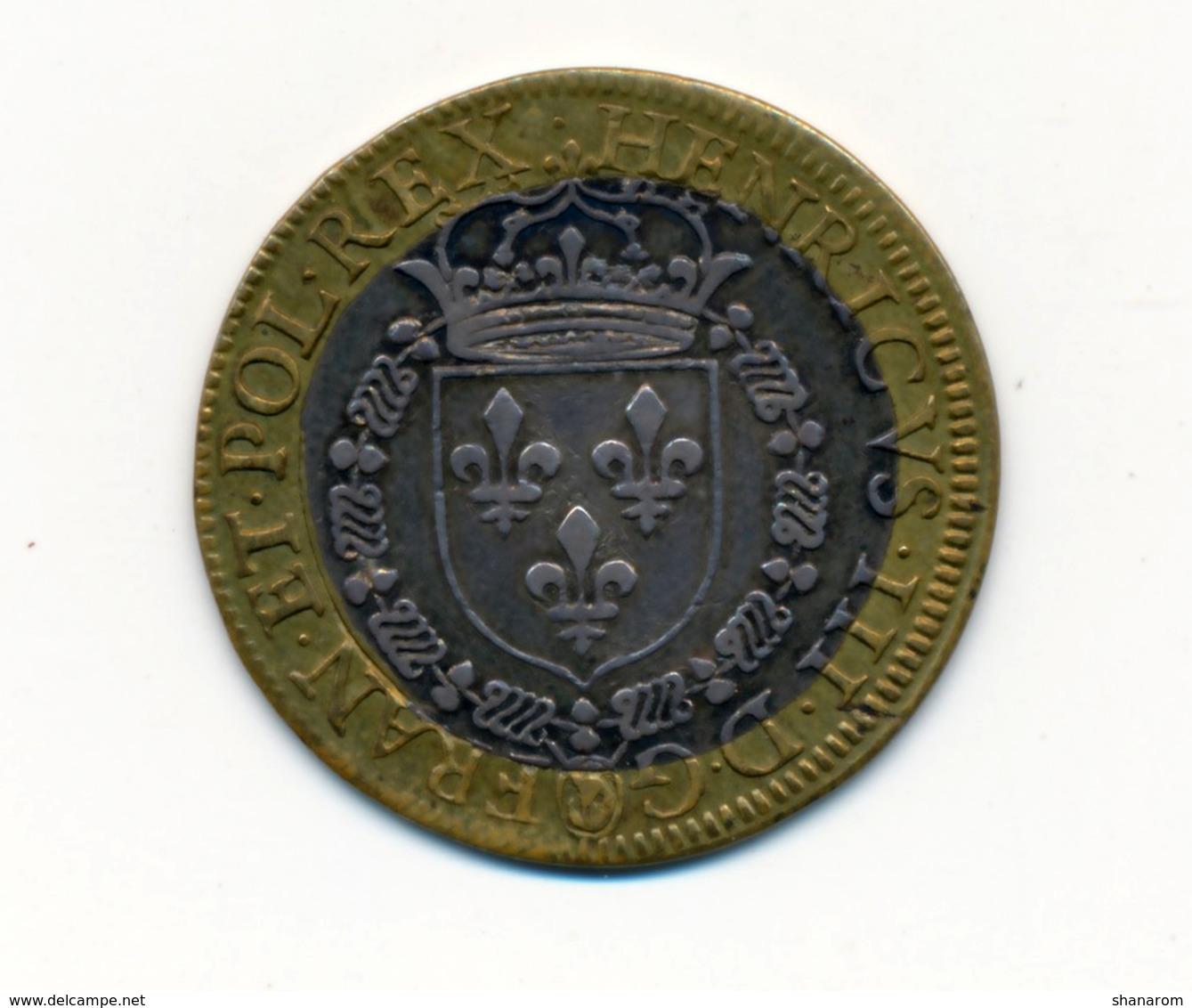 1579 // Jeton Bi-Métallique // HENRI III - Royaux / De Noblesse