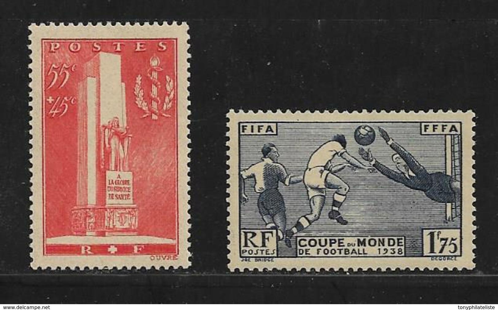 France Timbres De 1938 N° 395/96  Neuf **   Sans Charniere - Frankreich