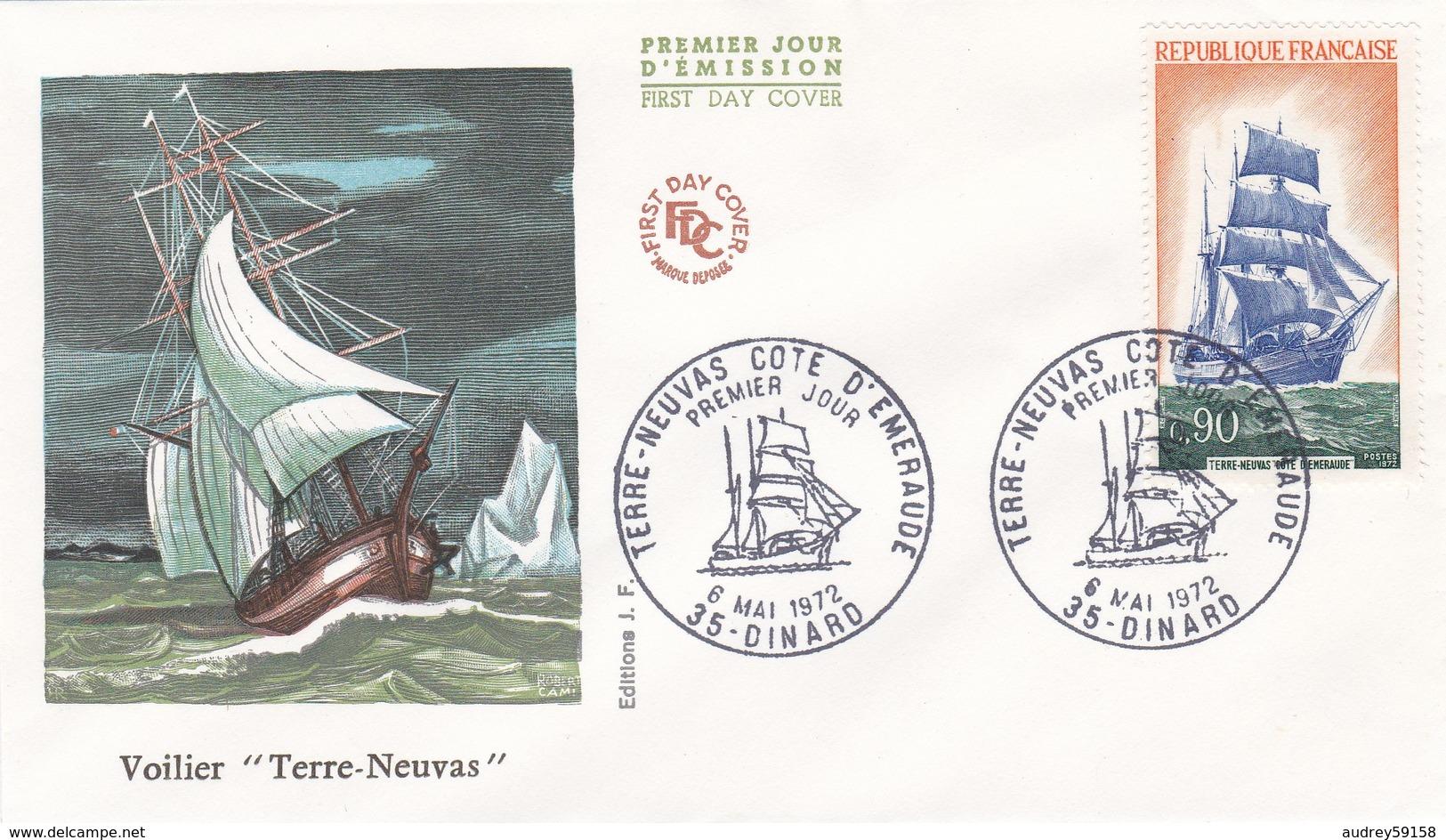 FRANCE 1972 FDC TERRE NEUVAS YT 1717 - FDC