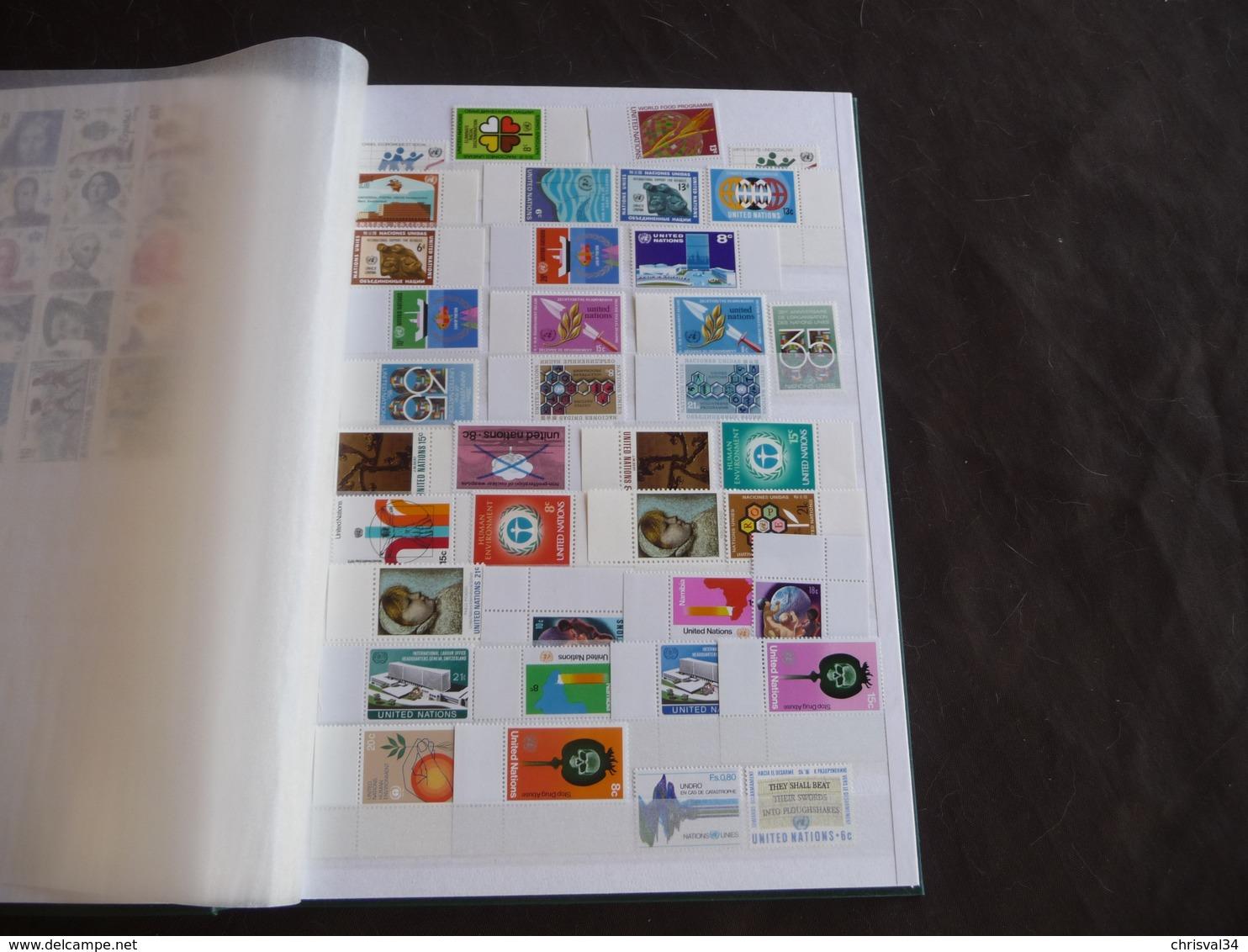 COLLECTION  TIMBRES  EUROPE  ET  AFRIQUE  NEUFS  SANS  CHARNIÈRES  DANS  ALBUM - Stamps