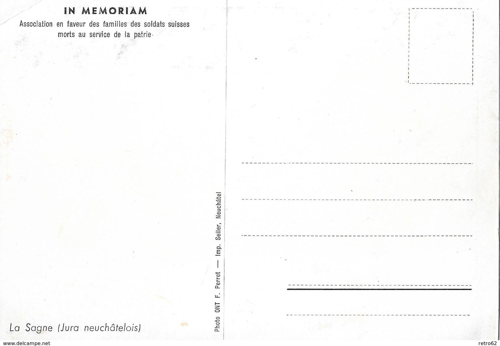 LA SAGNE → (Jura Neuchârelois)  IN MEMORIAM  Ca.1940    ►RAR◄ - NE Neuenburg
