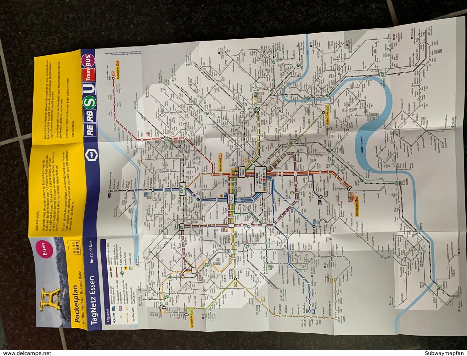 Transit Map Essen, Allemangne- Subway Bus Tram - World