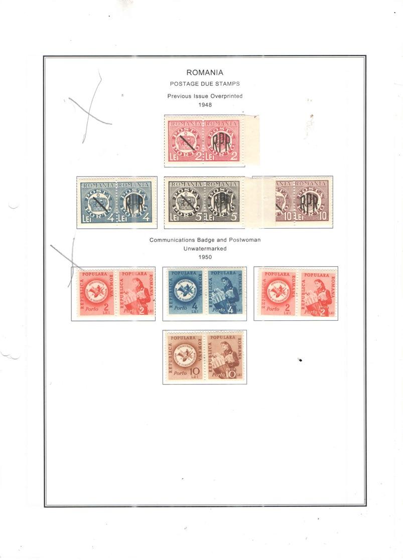 Romania Postage Due 1948 Prevous Ovpr. Scott.J 98 E/h +See Scan On Scott.Service Page; - Segnatasse