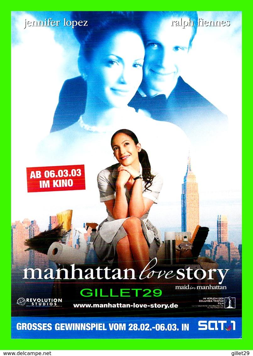 "AFFICHES DE FILM -  "" MAID IN MANHATTAN "" JENNIFER LOPEZ & RALPH FIENNES BY WAYNE WANG IN 2002 - - Affiches Sur Carte"