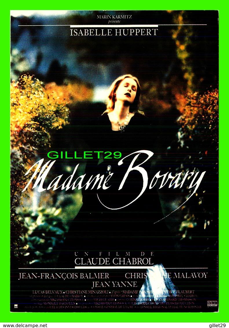 """AFFICHES DE FILM -  """" MADAME BOVARY """" FILM DE CLAUDE CHABROL EN 1991 -  AVEC ISABELLE HUPPERT - - Affiches Sur Carte"""