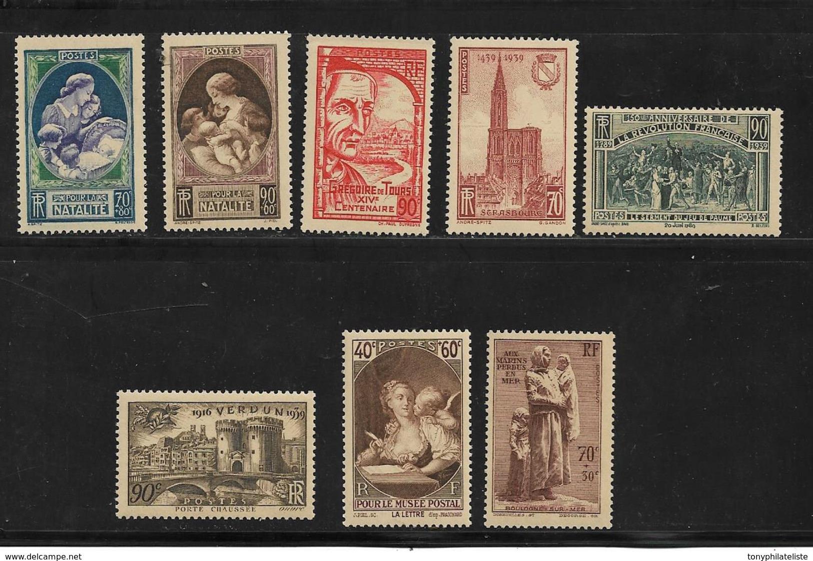 France Timbres De 1939  N°440 A 447  Neufs ** Sans Charniére (cote + De 64€) - France